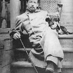 Anton Chekhov and cat