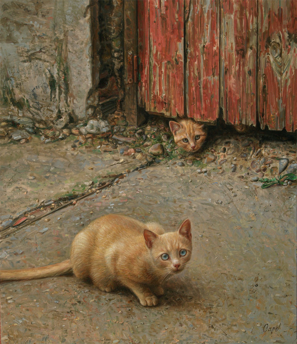Antonio Guzman Capel-7, cats in art