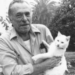 Charles Bukowski and his cat