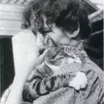 Edith Södergran (Finnish poet) and her cat