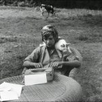 Francoise Sagan and cat