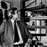 George Plimpton (Estados Unidos, 1927-2003) and cat