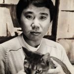 Haruki Murakami and cat 2