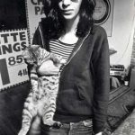 Joey Ramone and cat