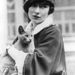 Margaret Mitchell and cat