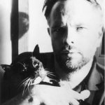 Philip K. Dick with cat