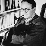 Raymond Chandler and cat
