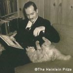 Robert Heinlein with cat
