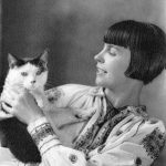 Wanda Gág with cat