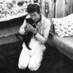 William Faulkner and cat