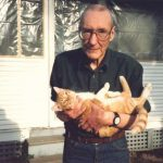 William S. Burroughs with his cat