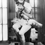 Zelda Fitzgerald with cat