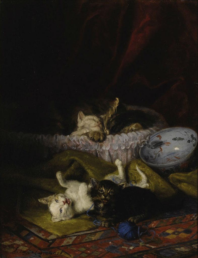 Nap Time, Louis Eugene Lambert, cats in art