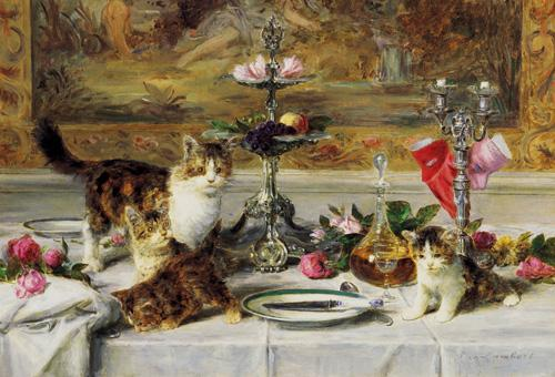 Up to No Good, Louis Eugene Lambert, cats in art