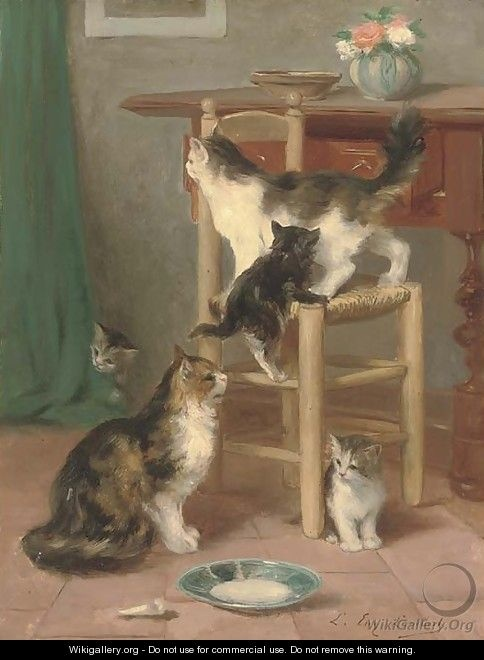 Waiting for Supper Louis Eugene Lambert, cats in art