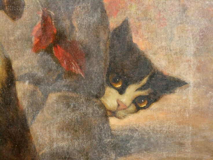 Carl Kahler, Peek a boo, cats in art