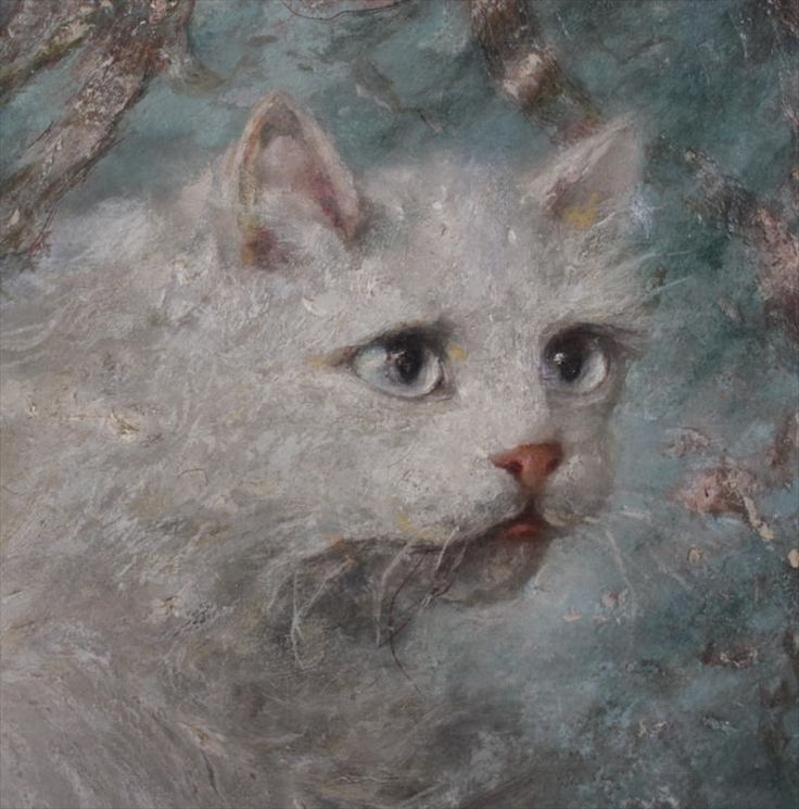 Detail, Mother and Kitten, Carl Kahler