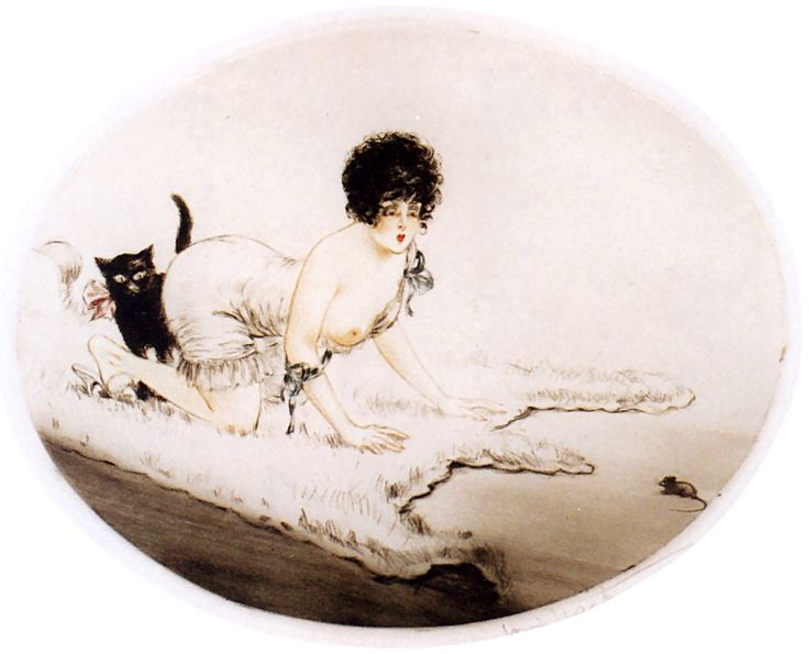 Cat and Mouse, Louis Icart