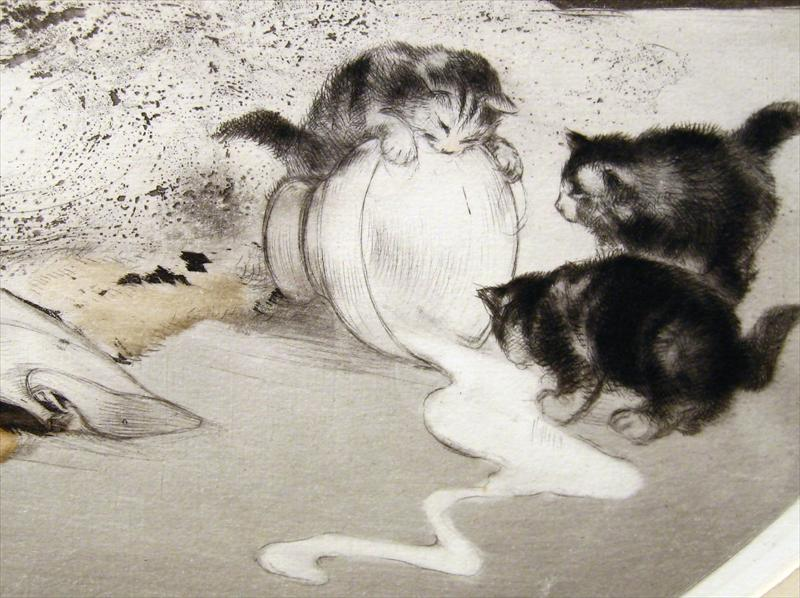 Louis Icart, Spilled Milk, Detail