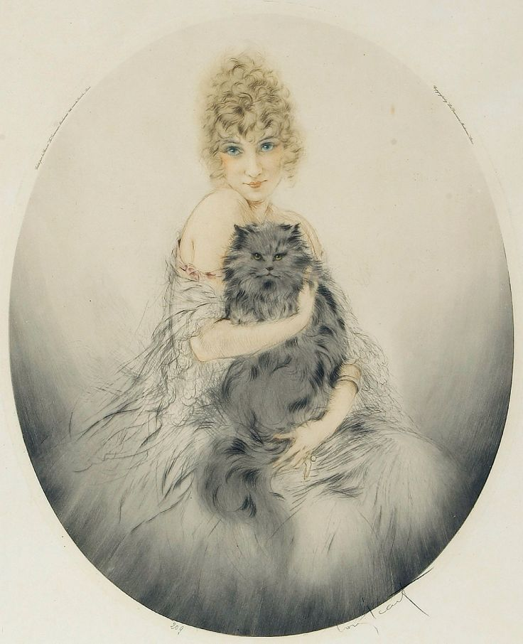 Persian Cat, 1923, Louis Icart