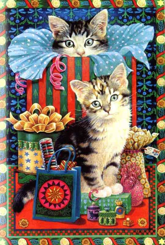 16-Lesley Anne Ivory, Christmas Cats