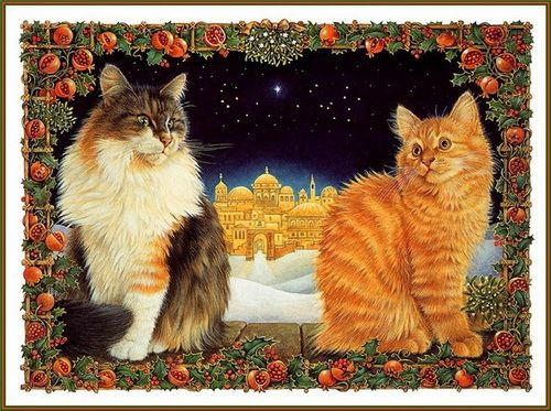 25-Lesley Anne Ivory, Christmas Cats