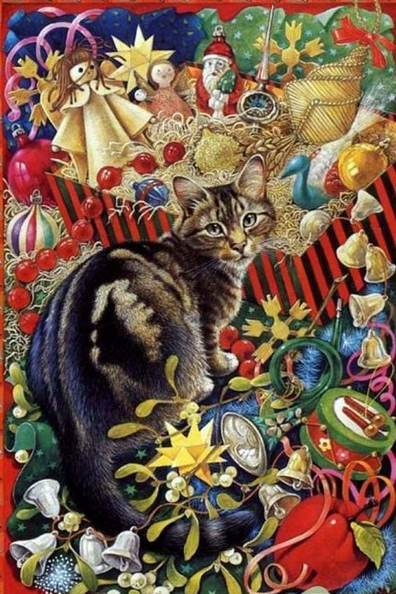 6-Lesley Anne Ivory, Christmas Cat