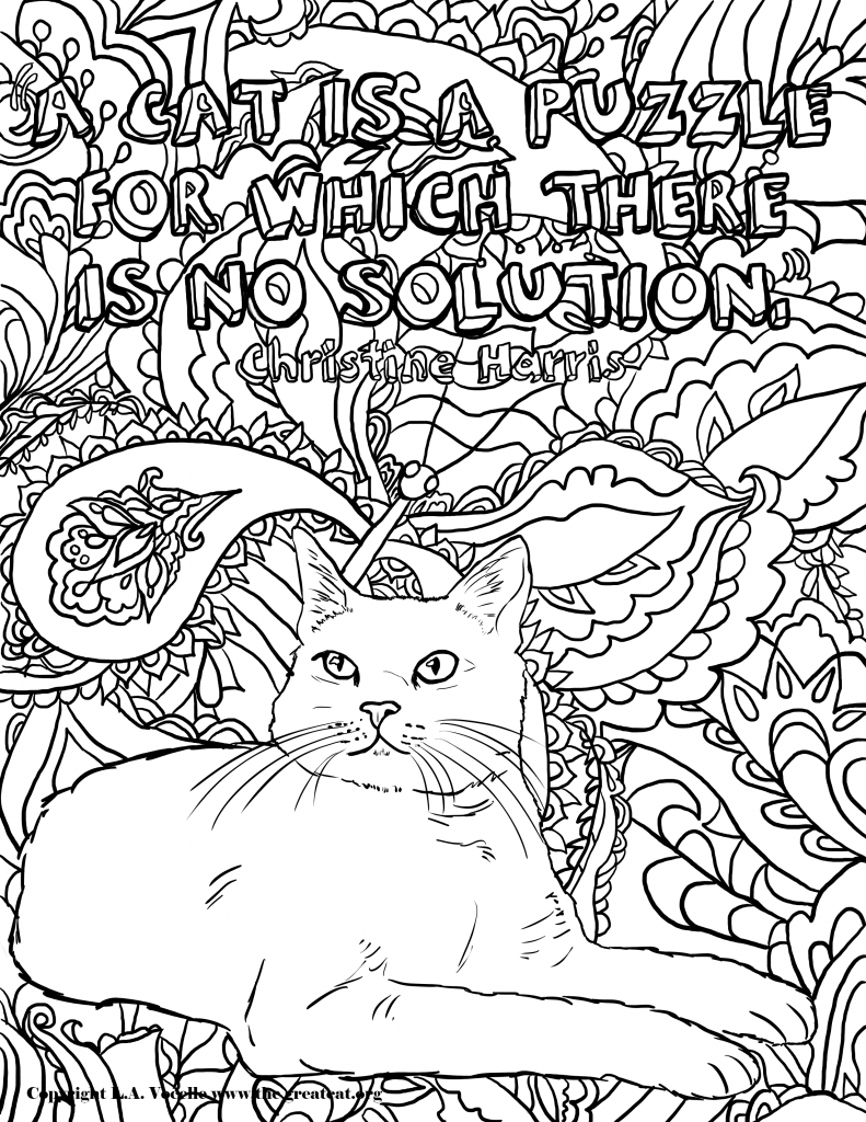 FREE COLORING PAGES THE GREAT CAT