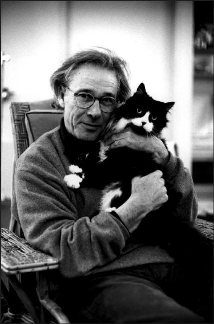 Jean Leyris, French Sculptor and Cat Martine Franck, 1998