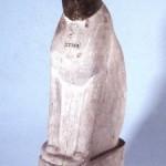 Cat Wooden Mummy Case Head green, Body White Graeco Roman, cat in ancient Egyptian art