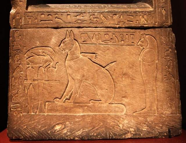Ta Mit's Cat Sarcophagus Pet of Thutmose 28th Dynasty-Fantastic Representations of Cats