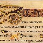 kellscatsinthelinesofthemanuscriptFolio19BrevescausaeofLuke