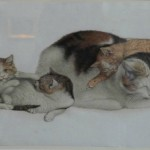 Gottfried Mind mother and kittens