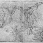 Three Sketches of a Cat's Head Pisanello 15th Century