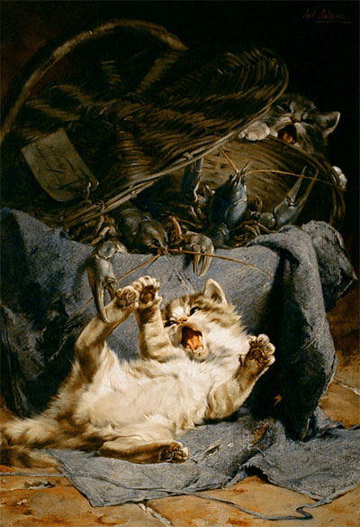 Cats In Art 19th Century The Great Cat