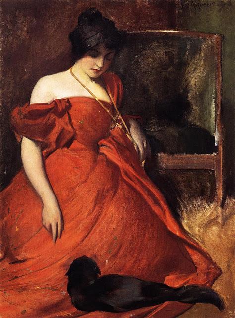 John W. Alexander Black and Red 1896