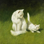 Angora Cat and Kitten Arthur Heyer Privated Collection
