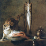 Still Life with Cat and Fish Jean Baptiste Simeon Chardin Museo Thyssen-Bornemisza, Madrid