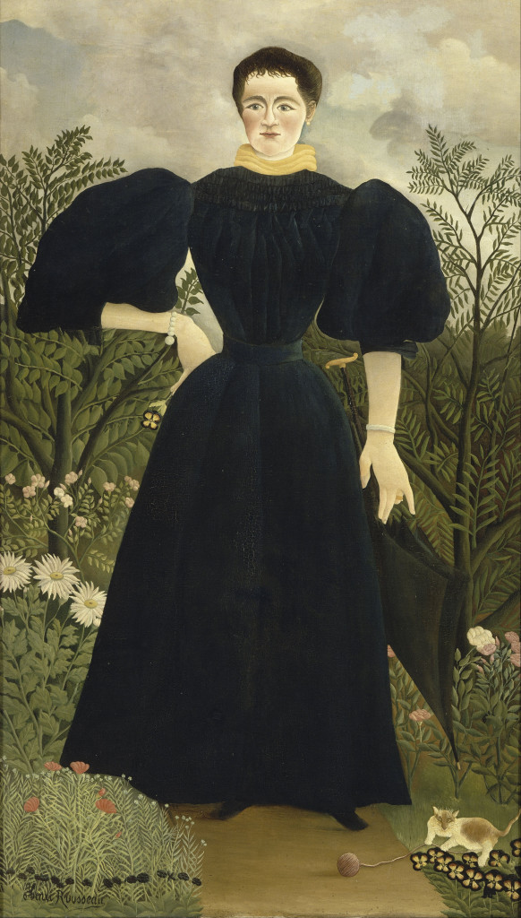 Portrait of Mme. M. Oil on Canvas Henri Rousseau Musee d'Orsay, Paris cats in art