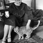 Doris Lessing and cat
