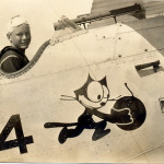 Felix the Cat on WWII F-4 airplane, cat mascots, black cats, cat insignia, cat in war