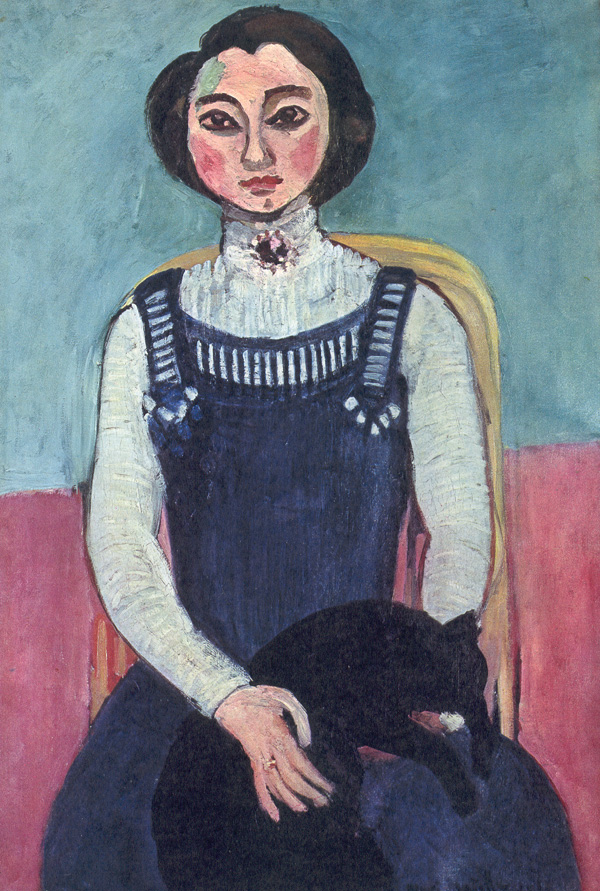Marguerite with a Black Cat, Henri Matisse, 1910