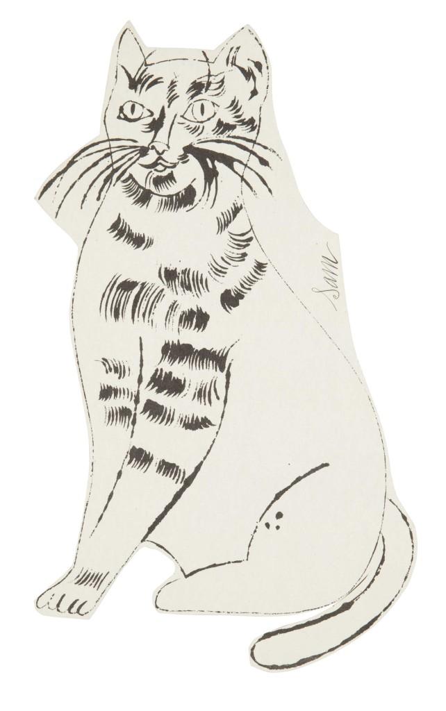 Andy Warhol, sketch of Sam