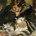 Lovis Corinth Wilhelmine mit Katze. 1924