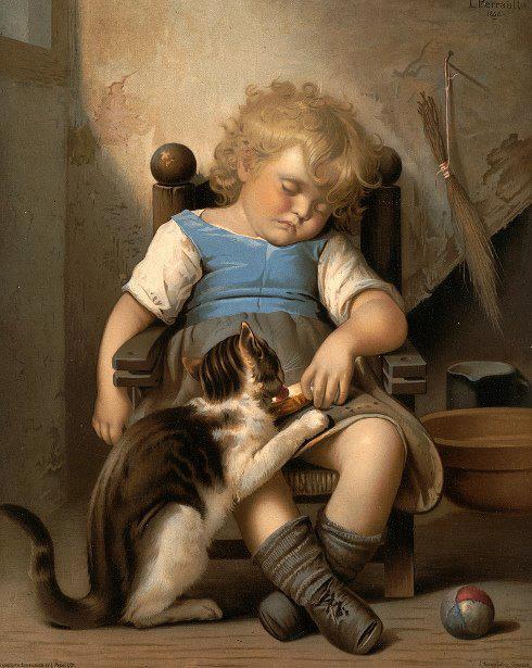 Leon Jean Basile Perrault, Naughty Kitty Steals Toast