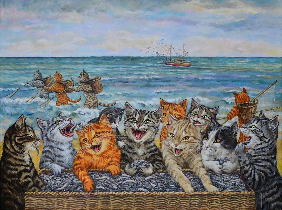Martine Coppens, cats in art, 12