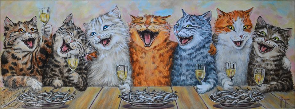 Martine Coppens, cats in art, 14