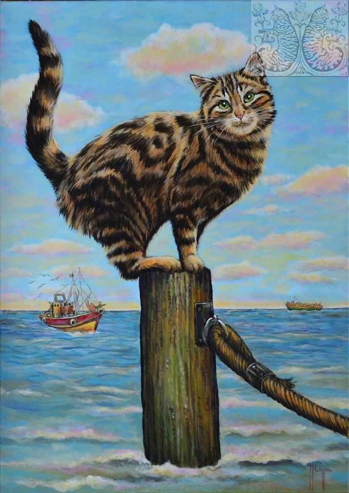 Martine Coppens, cats in art, 5