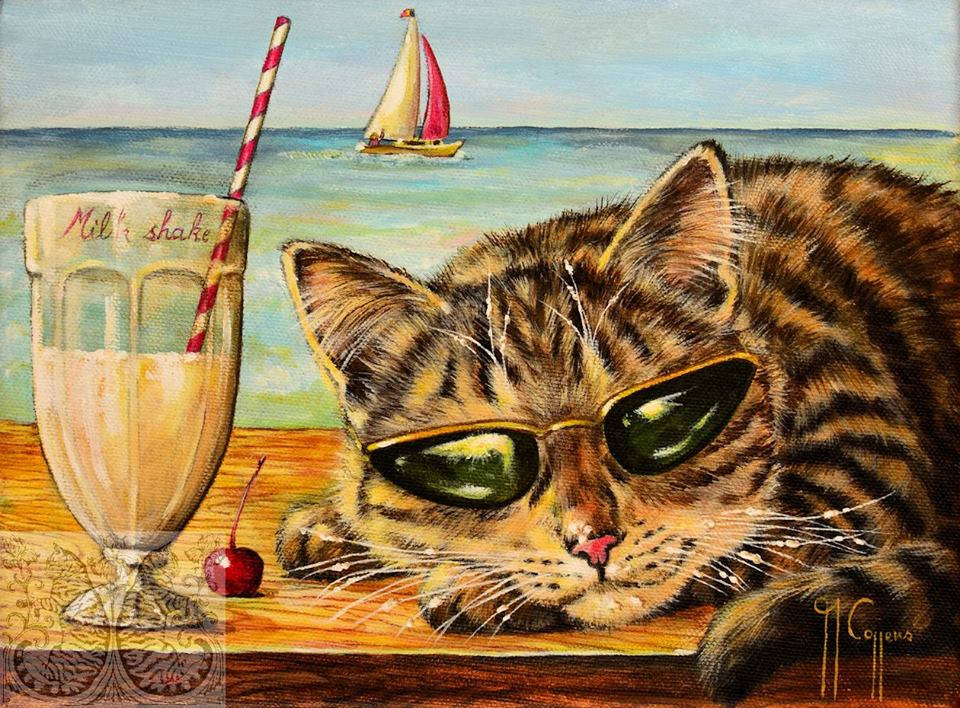 Martine Coppens, cats in art, 8