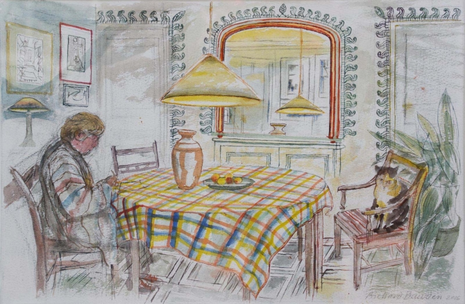 At Home with Cat, Richard Bawden